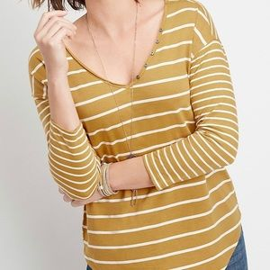 Maurices - Yellow and White Tee